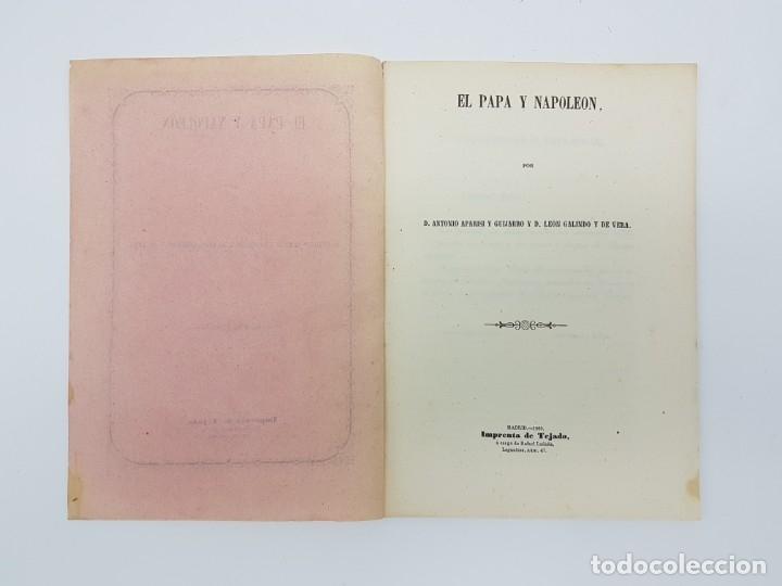Libros antiguos: LIBRO EL PAPA Y NAPOLEON POR APARISI Y GUIJARRO ( 1860 ) - Foto 3 - 179173510