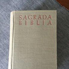 Libros antiguos: SAGRADA BIBLIA. VERSIÓN CRÍTICA SOBRE LOS TEXTOS HEBREO Y GRIEGO. JOSÉ Mª BOVER - FRANCISCO CANTERA . Lote 179174626