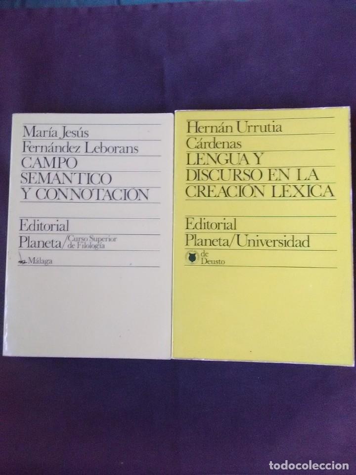 LOTE 2 TÍTULOS LENGUA Y DISCURSO EN LA CREACIÓN LÉXICA Y CAMPO SEMÁNTICO Y CONNOTACIÓN. (Libros Antiguos, Raros y Curiosos - Pensamiento - Otros)