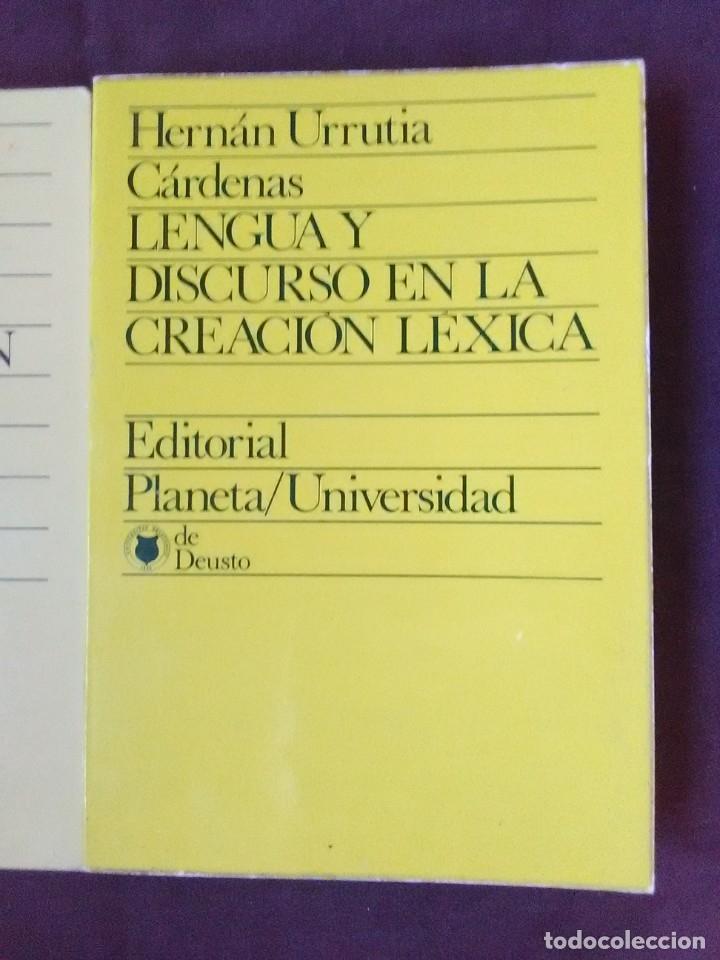 Libros antiguos: Lote 2 títulos Lengua y discurso en la Creación léxica y Campo semántico y Connotación. - Foto 2 - 179180846