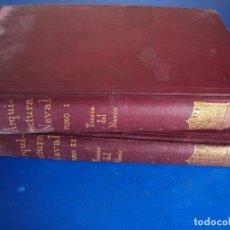 Libros antiguos: (LI-191022)ARQUITECTURA NAVAL. TOMO I Y II. TEORÍA DEL NAVÍO. - IGLESIAS, EMIGDIO.. Lote 179183846