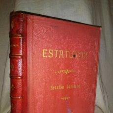 Libros antiguos: ESTATUTOS RIEGOS Y FUERZA DEL EBRO (LA CANADIENSE) AÑO 1936 - LIBRO MECANOSCRITO ORGINAL DE EPOCA.. Lote 179193481
