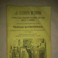 Libros antiguos: LA COCINERA MODERNA - BARCELONA AÑO 1868 - COCINA.MUY RARO.. Lote 179194627
