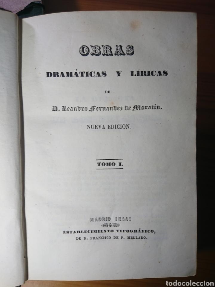 Libros antiguos: Obras dramáticas y líricas de Moratin, 1844, en dos Tomos - Foto 2 - 179196386