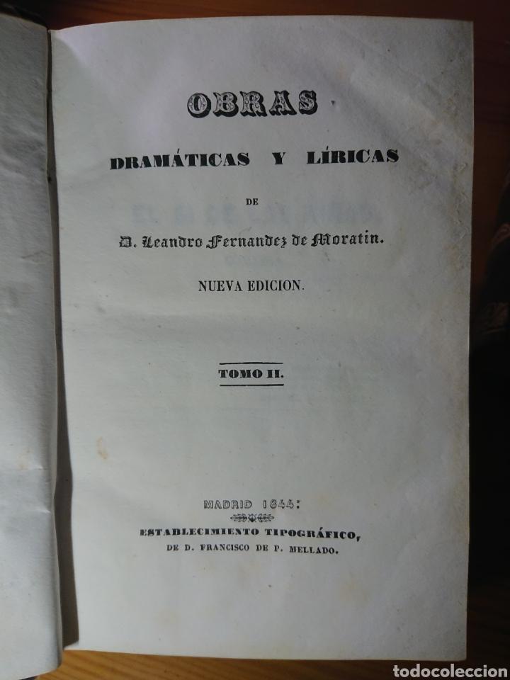 Libros antiguos: Obras dramáticas y líricas de Moratin, 1844, en dos Tomos - Foto 4 - 179196386