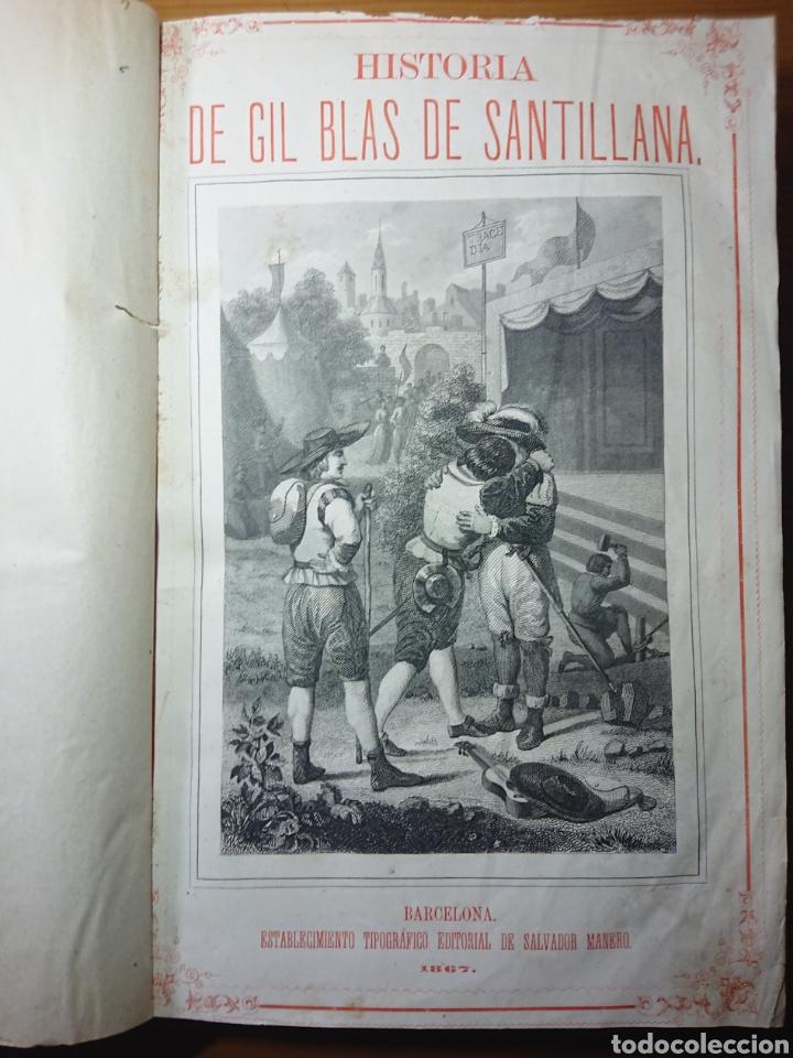 Libros antiguos: Historia de Gil Blas de Santillana, 1867, por Mr. Lesage - Foto 2 - 179196858