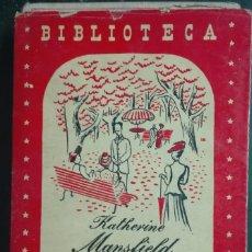 Libros antiguos: KATHERINE MANSFIELD. LA FIESTA EN EL JARDÍN. 1944. Lote 179206031