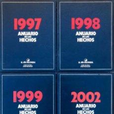 Libros antiguos: LOTE DE 4 LIBROS - ANUARIO DE LOS HECHOS 1997 1998 1999 2002 DIFUSORA INTERNACIONAL. Lote 179256373