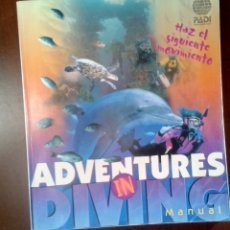 Libros antiguos: PADI ADVENTURES IN DIVING BOB COLEMAN. LIBROS BUCEO. Lote 179256981