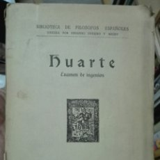 Libros antiguos: HUARTE. EXAMEN DE INGENIOS. 1930. Lote 179257083