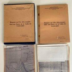 Libros antiguos: REPUBLIQUE RWANDAISE , VALLÉE DE TANGARO , 1983 , MINIERES , AH. HG. SCHOONDERBEEK. Lote 179316728