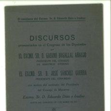 Libros antiguos: EL ASESINATO DEL EXCMO. SR. D. EDUARDO DATO E IRADIER. DISCURSOS. Lote 179316733