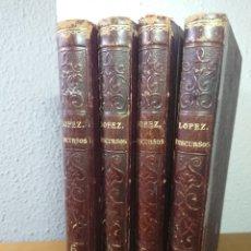 Libros antiguos: COLECCIÓN DE DISCURSOS PARLAMENTARIOS, 1856, JOAQUÍN MARÍA LÓPEZ, TOMOS 3,4,5 Y 6. Lote 179397595