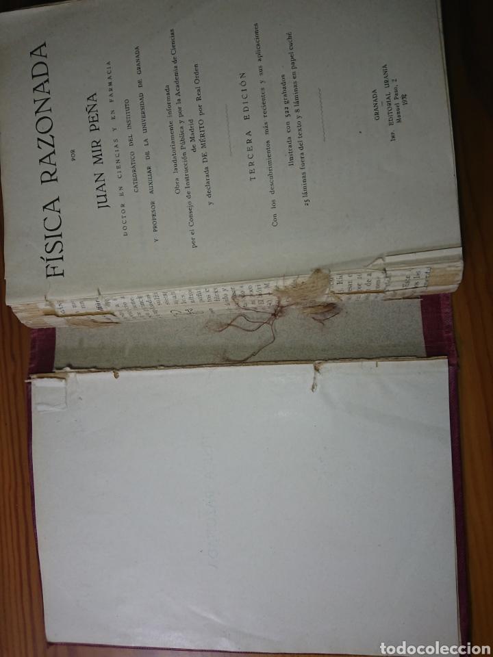 Libros antiguos: Física Razonada, Juan Mir Peña, 1932 - Foto 4 - 179397795
