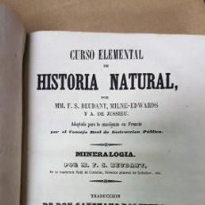 Libros antiguos: CURSO ELEMENTAL DE HISTORIA NATURAL NUMEROLOGÍA 1847. Lote 180013548