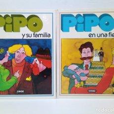 Libros antiguos: LIBROS EDUCATIVOS PIPO EN UNA FIESTA Y PIPO Y SU FAMILIA CEAC 1979. Lote 180015502