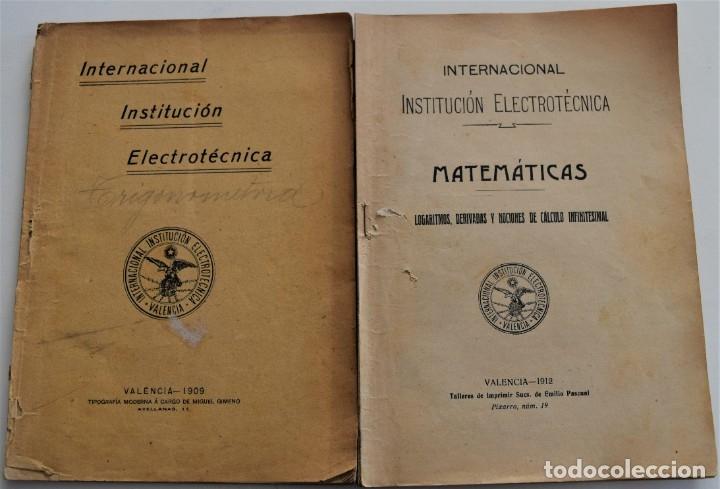 LOTE 2 LIBRITOS MATEMÁTICAS + LOGARITMOS, DERIVADAS Y NOCIONES DE CÁLCULO INFINITESIMAL AÑOS 1909-12 (Libros Antiguos, Raros y Curiosos - Ciencias, Manuales y Oficios - Otros)