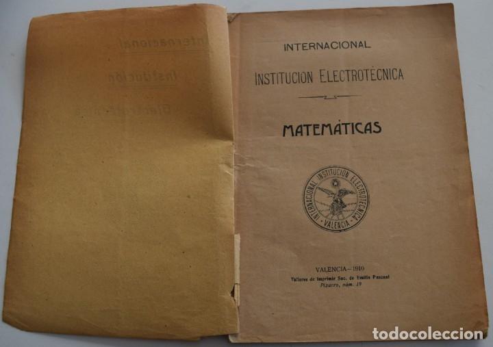 Libros antiguos: LOTE 2 LIBRITOS MATEMÁTICAS + LOGARITMOS, DERIVADAS Y NOCIONES DE CÁLCULO INFINITESIMAL AÑOS 1909-12 - Foto 4 - 180016632