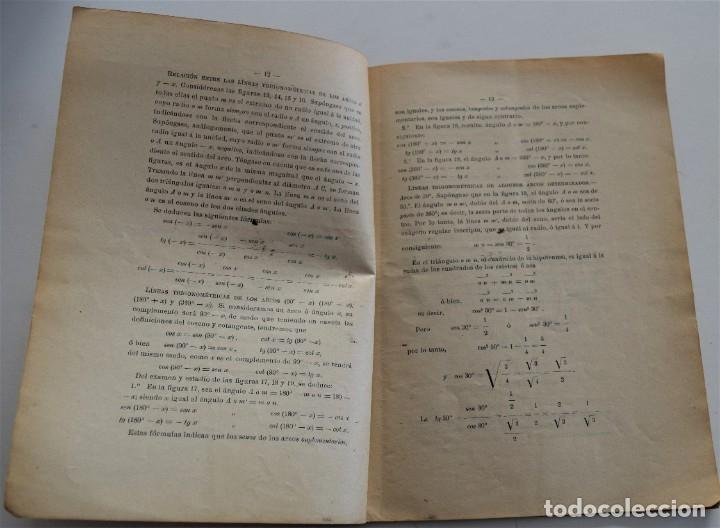 Libros antiguos: LOTE 2 LIBRITOS MATEMÁTICAS + LOGARITMOS, DERIVADAS Y NOCIONES DE CÁLCULO INFINITESIMAL AÑOS 1909-12 - Foto 7 - 180016632