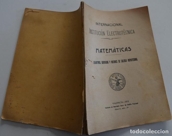 Libros antiguos: LOTE 2 LIBRITOS MATEMÁTICAS + LOGARITMOS, DERIVADAS Y NOCIONES DE CÁLCULO INFINITESIMAL AÑOS 1909-12 - Foto 9 - 180016632