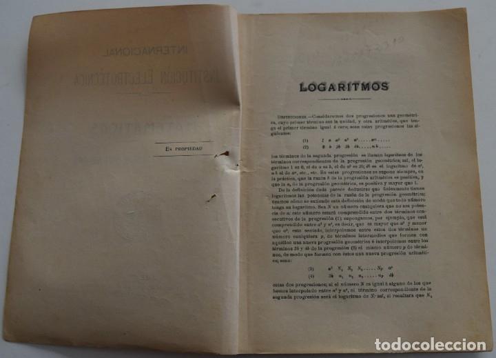 Libros antiguos: LOTE 2 LIBRITOS MATEMÁTICAS + LOGARITMOS, DERIVADAS Y NOCIONES DE CÁLCULO INFINITESIMAL AÑOS 1909-12 - Foto 10 - 180016632