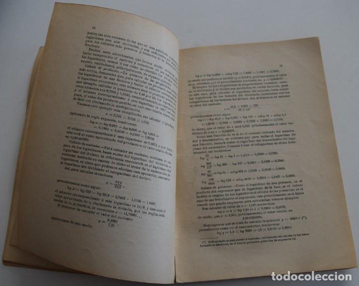 Libros antiguos: LOTE 2 LIBRITOS MATEMÁTICAS + LOGARITMOS, DERIVADAS Y NOCIONES DE CÁLCULO INFINITESIMAL AÑOS 1909-12 - Foto 11 - 180016632