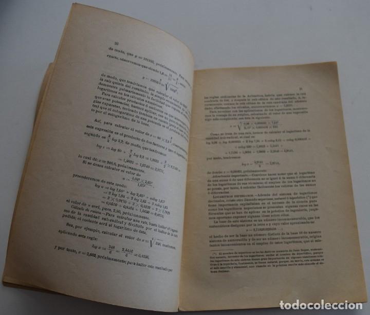 Libros antiguos: LOTE 2 LIBRITOS MATEMÁTICAS + LOGARITMOS, DERIVADAS Y NOCIONES DE CÁLCULO INFINITESIMAL AÑOS 1909-12 - Foto 12 - 180016632