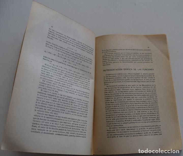 Libros antiguos: LOTE 2 LIBRITOS MATEMÁTICAS + LOGARITMOS, DERIVADAS Y NOCIONES DE CÁLCULO INFINITESIMAL AÑOS 1909-12 - Foto 14 - 180016632
