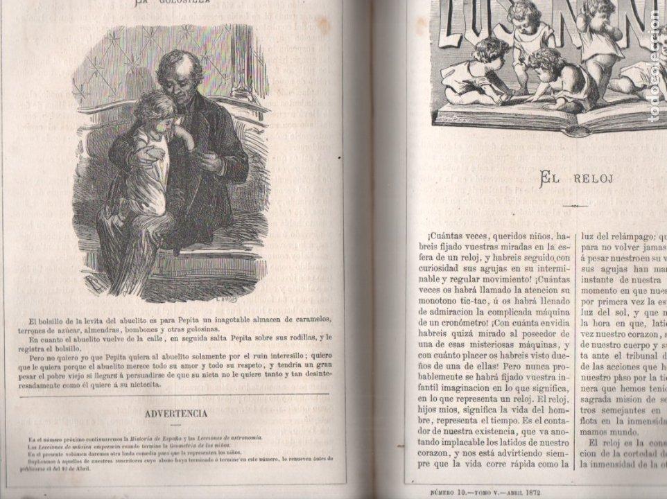 Libros antiguos: FRONTAURA : LOS NIÑOS - REVISTA DE EDUCACIÓN Y RECREO AÑO COMPLETO 1871 - DOS TOMOS - Foto 2 - 180017255