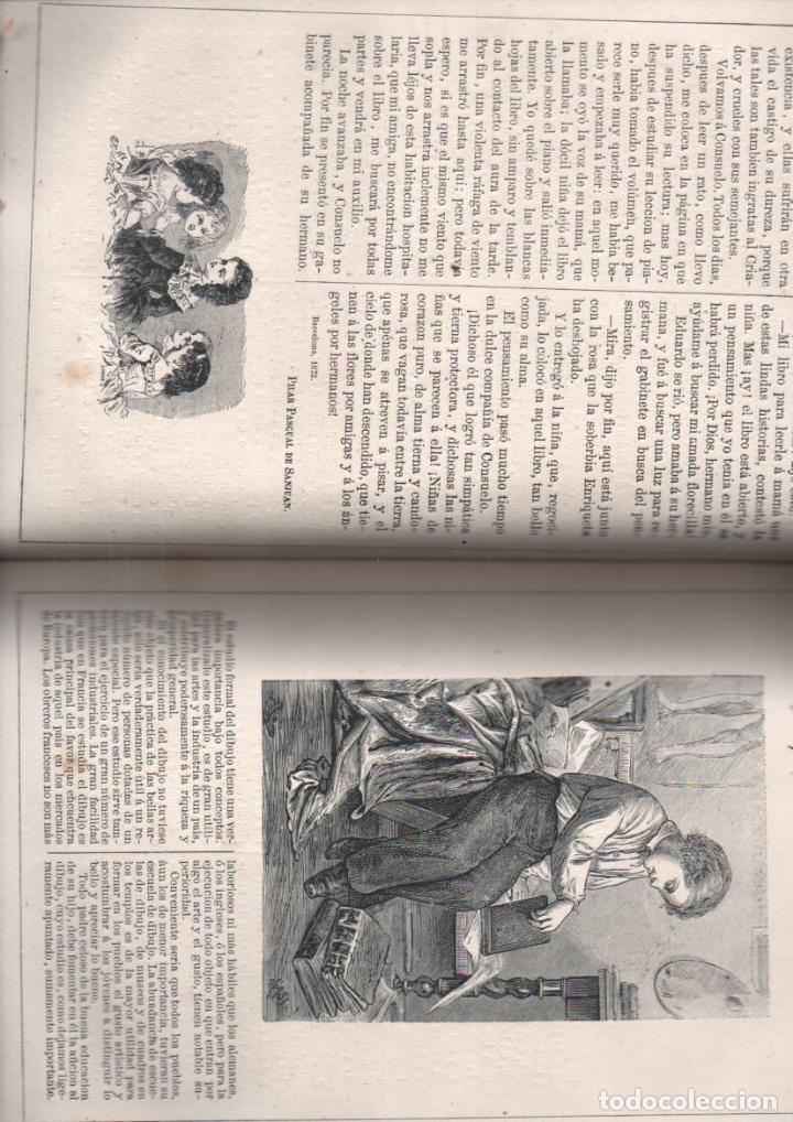 Libros antiguos: FRONTAURA : LOS NIÑOS - REVISTA DE EDUCACIÓN Y RECREO AÑO COMPLETO 1871 - DOS TOMOS - Foto 4 - 180017255