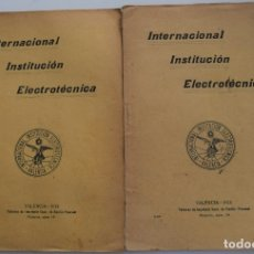 Libros antiguos: LOTE 2 LIBRITOS AGRONOMÍA + LEGUMINOSAS Y PRATENSES - VALENCIA AÑOS 1913-14. Lote 180017267