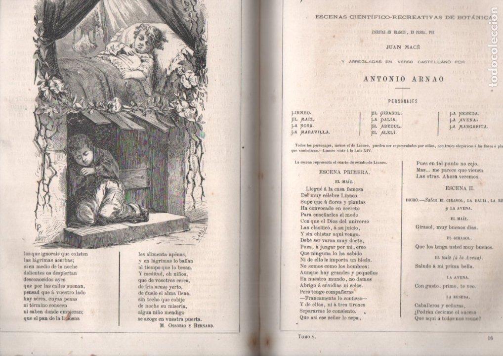 Libros antiguos: FRONTAURA : LOS NIÑOS - REVISTA DE EDUCACIÓN Y RECREO AÑO COMPLETO 1872 - DOS TOMOS - Foto 3 - 180017450
