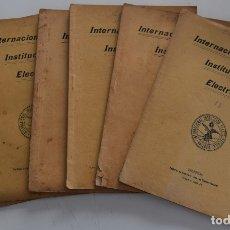 Libros antiguos: LOTE 7 LIBRITOS ESTACIONES CENTRALES, FENÓMENOS ELÉCTRICOS, ALUMBRADO Y OTROS - VALENCIA 1906-07. Lote 180018922