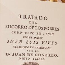 Libros antiguos: TRATADO DEL SOCORRO DE LOS POBRES.. Lote 180024030