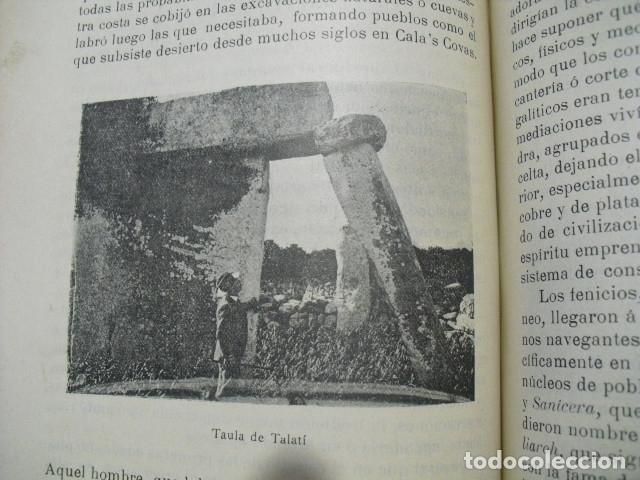 Libros antiguos: 1907 GEOGRAFIA E HISTORIA DE MENORCA LORENZO LAFUENTE VANRELL - Foto 4 - 179954837