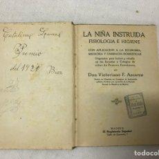 Libros antiguos: LA NIÑA INSTRUIDA POR DON VICTORIANO F. ASCARZA. Lote 180083111