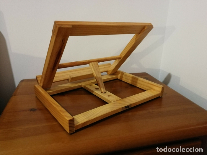 Libros antiguos: Atril para libros de madera 32 x 25 x 7 cm plegable tres alturas - Foto 2 - 180108892