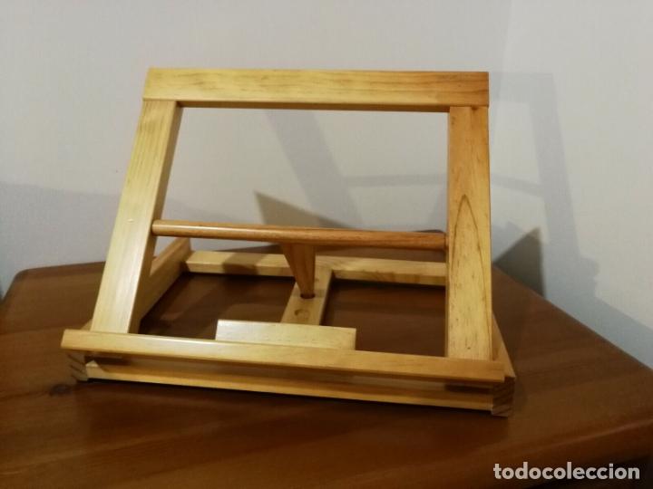 Libros antiguos: Atril para libros de madera 32 x 25 x 7 cm plegable tres alturas - Foto 3 - 180108892
