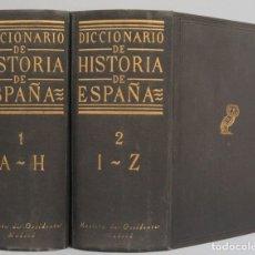 Libros antiguos: 1952.- DICCIONARIO DE HISTORIA DE ESPAÑA. REVISTA DE OCCIDENTE. Lote 180111637