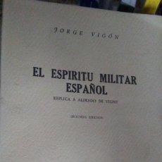 Libros antiguos: EL ESPIRITU MILITAR ESPAÑOL. Lote 180163822