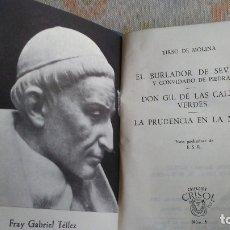 Libros antiguos: EL BURLADOR DE SEVILLA. Lote 180164598