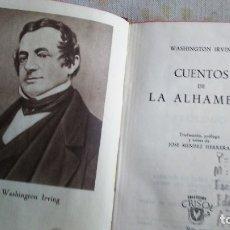 Libros antiguos: CUENTOS DE ALHAMBRA. Lote 180164916