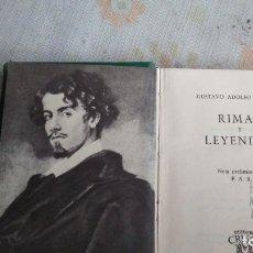 Libros antiguos: RIMAS Y LEYENDAS. Lote 180165175