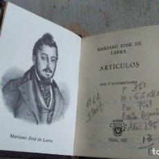 Libros antiguos: ARTICULOS. Lote 180165541