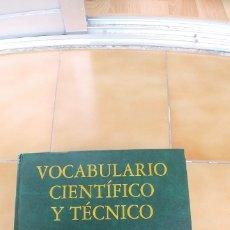 Libros antiguos: VOCABULARIO CIENTIFICO Y TECNICO REAL ACADEMIA DE CIENCIAS EXACTAS FISICAS Y NATURALES,ESPASA. Lote 180190553