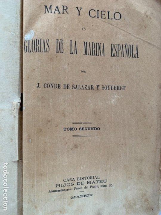 MAR Y CIELO O GLORIAS DE LA MARINA ESPAÑOLA (Libros Antiguos, Raros y Curiosos - Ciencias, Manuales y Oficios - Otros)