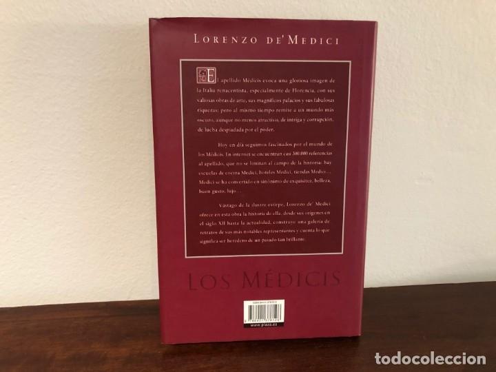 Libros antiguos: Los Médicis. Nuestra historia. Lorenzo deMédici. Plaza y Janés. Renacimiento. Italia - Foto 3 - 180285905