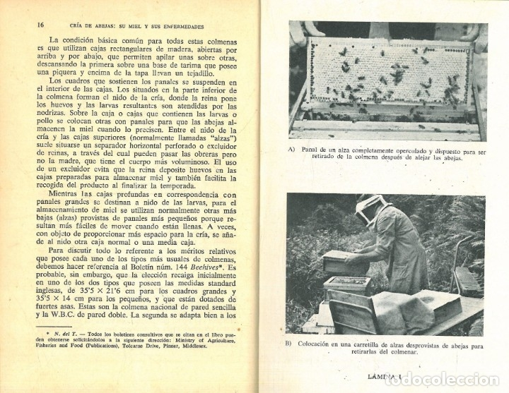 Libros antiguos: CRÍA DE LAS ABEJAS SU MIEL Y SUS ENFERMEDADES (A.G. HARRISON - A. HEBDEN - F.A. RICHARD) - Foto 4 - 195337693