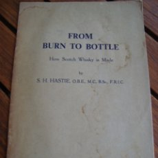 Libros antiguos: FROM BURN TO BOTTLE. HOW SCOTCH WHISKY IS MADE. 1951.. Lote 180434522