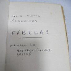 Libros antiguos: FABULAS. FELIX MARIA SAMANIEGO. EDITORIAL CALLEJA. VER FOTOS. 194 PAGINAS. LEER. Lote 180440285